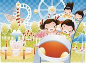 picture of amusement park rides  - Play Time - JPG