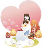 Постер, плакат: Иисус Христос и маленький мальчик
