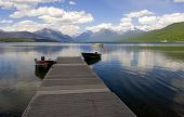 Dock, Lake Mcdonald poster