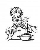 Italian Chef - Retro Clip Art