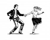 Retro Swing Dancing - Retro Clip Art