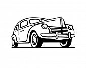 Forties Ford - Retro Clip Art