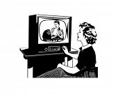 What's On TV - Retro Clip Art