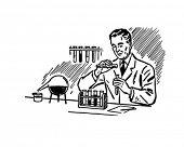 Scheikundige 2 - Retro illustraties