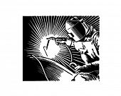 Arc Welder - Retro Clip Art