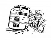 Travel By Train - Retro Clip Art