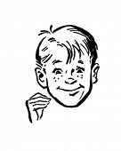 Smiling Boy - Retro Clip Art