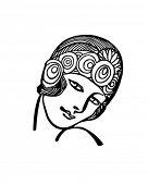 Deco Princess - Retro Clip Art