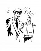 Man With Trousers - Dry Cleaning Service