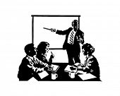 Board Meeting - Retro Clip Art
