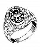 Grad Ring Round - Retro Clip Art