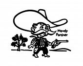 Howdy Pardner - Little Sheriff - Retro Clip Art