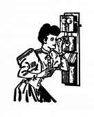 Old Fashioned telefone - Retro Clip-Art