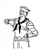 Proud Sailor - Retro Clip Art