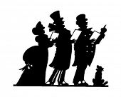 Christmas Carolers 2 - Retro Clip Art