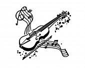 Violin - Retro Clipart Illustration