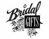 Bridal Gifts - Ad Header - Retro Clipart Illustration