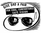 Give Dad A Pair - Retro Clipart Illustration