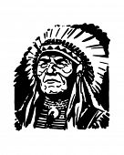 Indian Chief - Retro Clipart Illustration