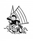 Little Captain - Retro Clipart Illustration