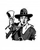 Town Crier - Retro Clipart Illustration