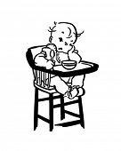 Unhappy Baby - Retro Clipart Illustration