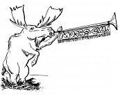 Moose Call - Retro Clipart Illustration