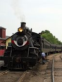Steam Train Leaving Station