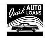 Quick Auto Loans - Retro Ad Art Banner