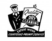 Quick Dry Cleaning - Retro Ad Art Banner