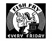 Fish Fry - Retro Ad Art Banner