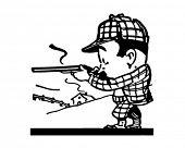 Little Hunter - Retro Ad Art Illustration