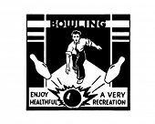 Bowling - Retro Art-Werbebanner