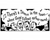 Good Fellows 2 - Tavern Singers - Retro Ad Art Banner