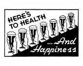 Here's To Health 2 - Retro Ad Art Banner