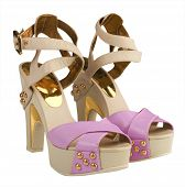 foto of high heels shoes  - pink shoes - JPG