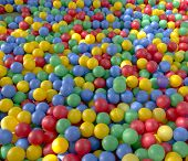 colored plastic balls background