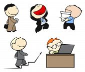 Conjunto de trabalhadores de escritório, em diferentes situações #2