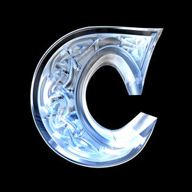 picture of alphabet letters  - 3d made  - JPG