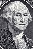 George Washington from US one dollar bill