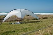pic of tora  - Sunshade erected to protect from harmful sun rays - JPG