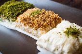 Turkish Milk Dessert Sutlava Made With Gullac And Dairy Baklava Dough poster