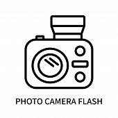 Photo Camera Flash Icon Isolated On White Background. Photo Camera Flash Icon Simple Sign. Photo Cam poster