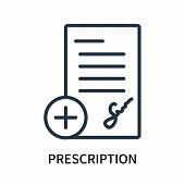 Prescription Icon Isolated On White Background. Prescription Icon Simple Sign. Prescription Icon Tre poster