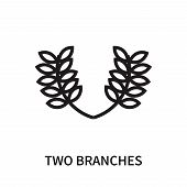 Two Branches Icon Isolated On White Background. Two Branches Icon Simple Sign. Two Branches Icon Tre poster