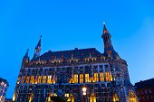 Townhall In Aachen, Germany