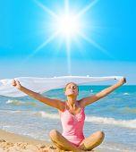 Puro ejercicio en una playa