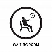 Waiting Room Icon Isolated On White Background. Waiting Room Icon Simple Sign. Waiting Room Icon Tre poster