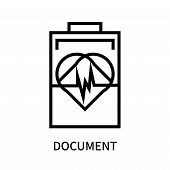 Document Icon Isolated On White Background. Document Icon Simple Sign. Document Icon Trendy And Mode poster