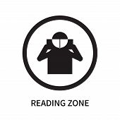 Reading Zone Icon Isolated On White Background. Reading Zone Icon Simple Sign. Reading Zone Icon Tre poster